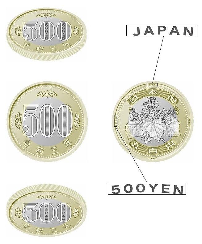 新貨幣500円