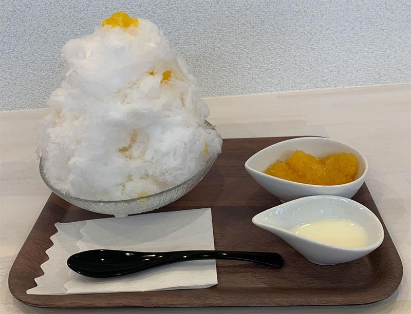 広島呉市『かき氷専門店カフェ不二』メニュー6甘夏みかん
