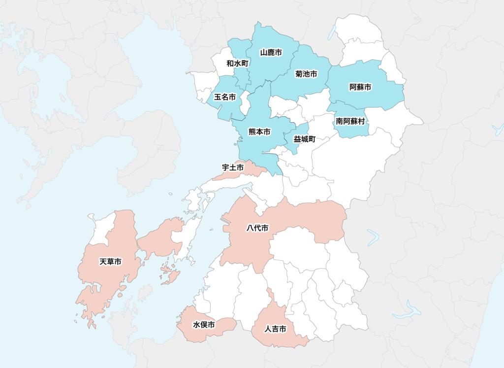 19熊本県聖火リレーマップ