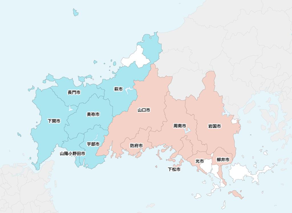 23山口県聖火リレーマップ