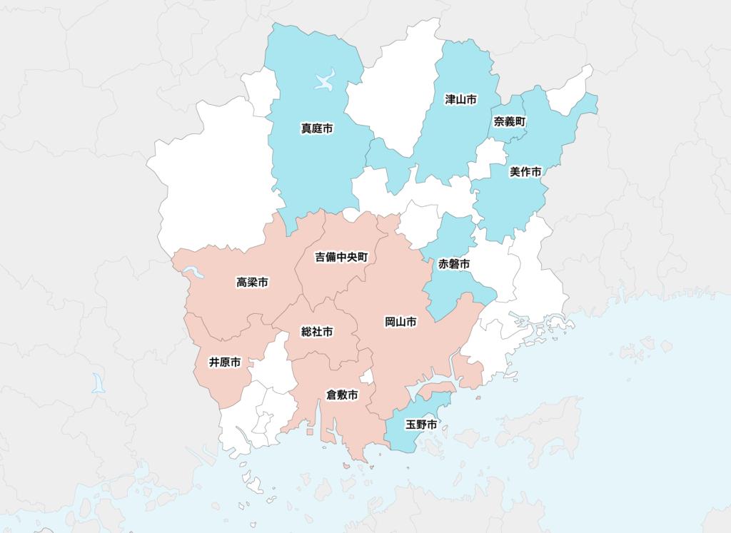 26岡山県聖火リレーマップ
