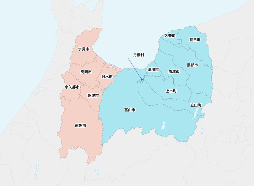 33富山県聖火リレーマップ