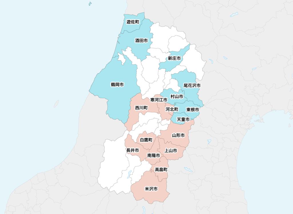35山形県聖火リレーマップ