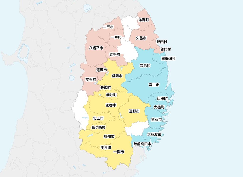 39岩手県聖火リレーマップ