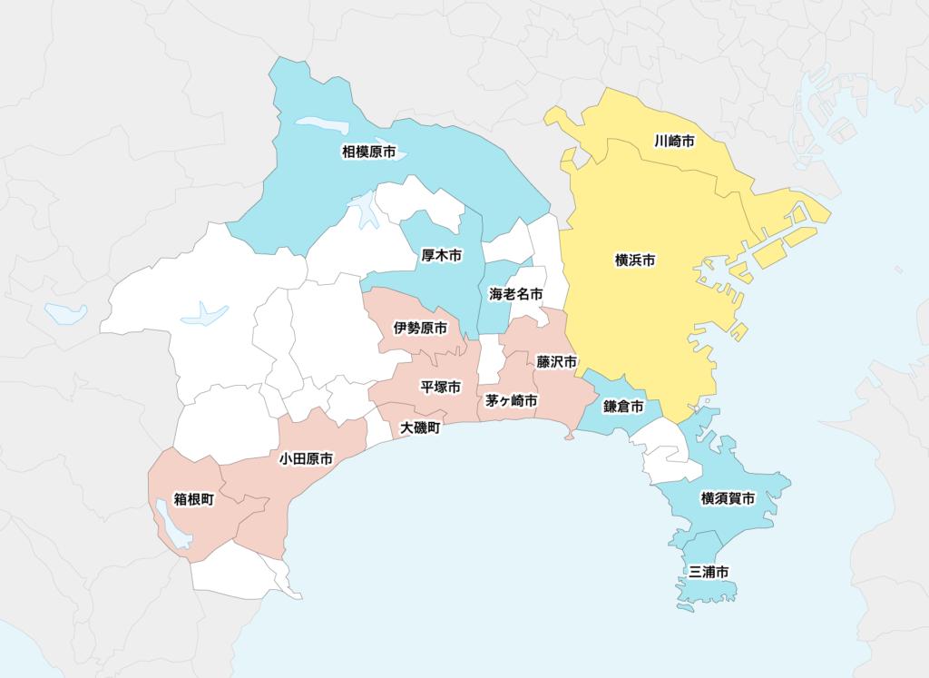 43神奈川県聖火リレーマップ